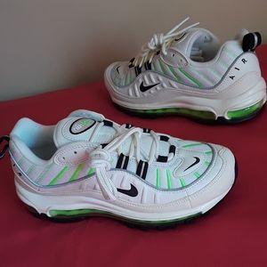 NEW Women's Nike Air Max 98 Electric Green Sz 7